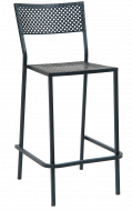 Metal Patio Stack barstool with Punched Square Hole