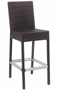 Outdoor Brown Rattan Metal Barstool