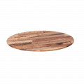 27.5'' Round Molded Compression Paneling Table Top, Rustic Maple