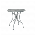 Grey Finish Wrought Iron Table w/ Size 30''Round