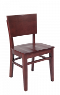 Beechwood Chair in DM Finish with Wooden Seat in DM