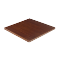 24''X24'' Solid Oak Wooden Table Top, Dark Mahogany
