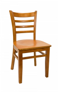 Beechwood Ladder Back Chair w/ Cherry Frame and Veneer Seat