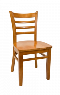 Beechwood Ladder Back Chair w/ Cherry Frame and Wood Seat