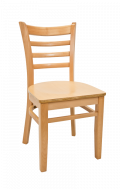 Beechwood Ladder Back Chair w/ Natural Frame and Veneer Seat