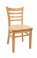 Beechwood Ladder Back Chair w/ Natural Frame and Wood Seat