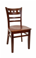 Beechwood American Back Chair w/ Dark Mahogany Back and Veneer Seat