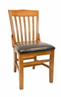 Beechwood Schoolhouse Chair w/ Cherry Frame and Vinyl Seat