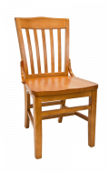 Beechwood Schoolhouse Chair w/ Cherry Frame and Wood Seat