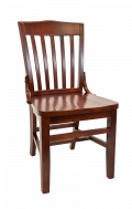 Beechwood Schoolhouse Chair w/ Dark Mahogany Frame and Wood Seat