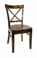 Beechwood X Back Chair w/ Walnut Frame and Wood Seat