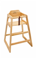 Wood High Chair in Natural Finish