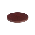 24'' Round Resin Table Top, Dark Mahogany