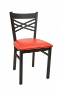 X Back Metal Chair w/ Vinyl Seat