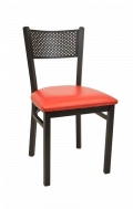 Perforated Back Metal Chair w/ Vinyl Seat