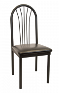 Fan back Tube Metal Chair w/ Vinyl Seat