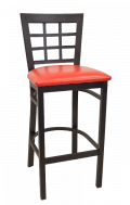 Window Back Metal Barstool w/ Vinyl