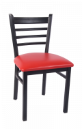 Smooth Paint Ladder Back Metal Chair w/ Vinyl Seat