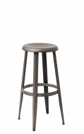 Gunmetal Finish Backless Steel Barstool