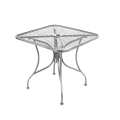 Grey Finish Wrought Iron Table w/ Size 30''X30""