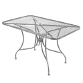 Grey Finish Wrought Iron Table w/ Size 30''X48""
