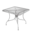 Grey Finish Wrought Iron Table w/ Size 36''X36""