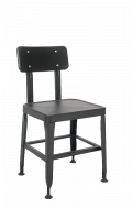 Steel Chair in Black Finish
