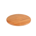 24'' Round Solid Oak Wood Table Tops, Cherry