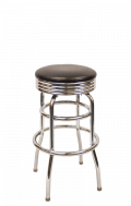 Swivel Chrome Retro Barstool