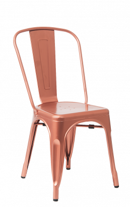 Rose Copper Finish Tolix Metal Chair Metal Restaurant Chairs Restaurant Furniture A1