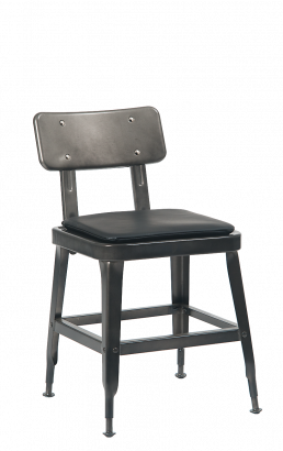 Gunmetal Steel Chair With Vinyl Seat Metal Restaurant Chairs Restaurant Furniture A1