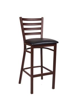 Ladder Back Brown Finish Metal Barstool Arf1001brn Bs Restaurant Furniture A1