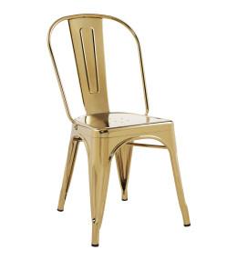 Gold Galvanized Steel Chair Metal Restaurant Chairs Restaurant Furniture A1 Restaurant