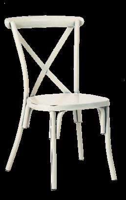 Antique White X Back Metal Chair Metal Restaurant Chairs Restaurant Furniture A1 Restaurant