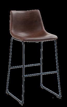 Vintage Brown Vinyl Metal Barstool Commercial Metal Bar Stools Restaurant Furniture A1