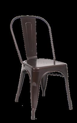 Brown Finish Tolix Metal Chair Metal Restaurant Chairs Restaurant Furniture A1 Restaurant