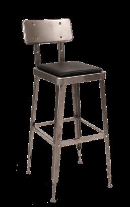 Clearcoat Steel Barstool With Vinyl Seat Restaurant