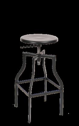 Adjustable Height Metal Barstool Matte Finish Commercial Metal Bar Stools Restaurant