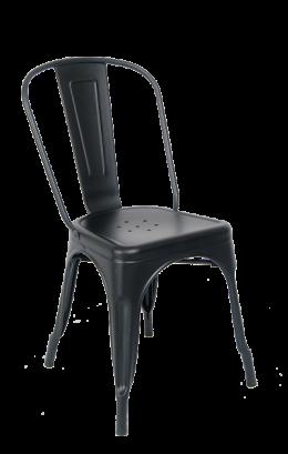 Indoor Black Metal Chair Metal Restaurant Chairs Restaurant
