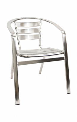 Aluminum Stack Chair With Armrest Outdoor Restaurant Chairs Restaurant Furniture A1