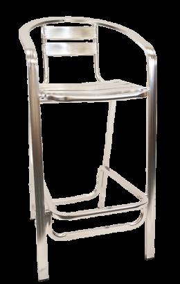 Aluminum Barstool With Armrest Outdoor Restaurant Bar Stools Restaurant Furniture A1