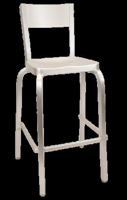 Plain Back Aluminum Barstool Outdoor Restaurant Bar Stools Restaurant Furniture A1