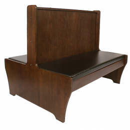 42 39 39 H Double Walnut Wood Booth Restaurant Booth Restaurant Furniture A1 Restaurant Furniture