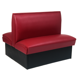 36h Double Booth In Burgundy Plain Back Restaurant Booth Restaurant Furniture A1
