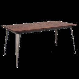X Elmwood Table Top W Gunmetal Color Leg Base Wooden - 4 top restaurant table