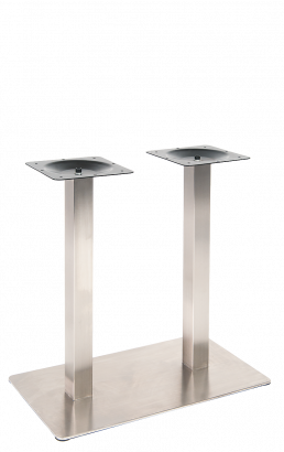 Heavy Duty Double Stainless Steel Table Bases Restaurant