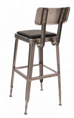Clearcoat Steel Barstool With Vinyl Seat Commercial Metal Bar Stools Restaurant Furniture