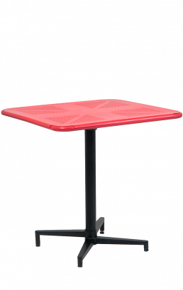 30 39 39 X30 39 39 Red Metal Folding Outdoor Table Outdoor Restaurant Tables Restaurant Furniture A1