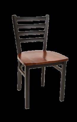 Ladder Back Metal Chair W Wood Seat Metal Restaurant Chairs Restaurant Furniture A1