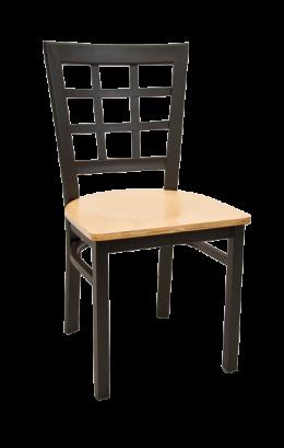 Window Back Metal Chair W Veneer Seat Metal Restaurant Chairs Restaurant Furniture A1